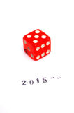 Lucky New Year 2015 Lizenzfreies Stockfoto