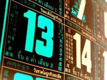 Lucky  number  Stock Photography