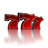 Lucky number seven. Over white background Stock Photo