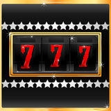 Lucky number in slot machine Royalty Free Stock Photography