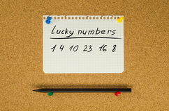 Lucky Numbers Stock Images