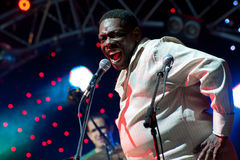 Lucky Peterson sings Royalty Free Stock Photography