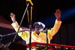Lucky Peterson, USA Kriol Jazz Festival stockfotos