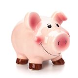 Lucky piggy bank isolated on white background Royalty Free Stock Photo