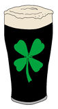 Lucky pint of beer. Hand drawn illustration of a lucky pint of beer Royalty Free Stock Photos