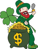 Lucky Pot of Gold Stock Photography