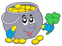 Lucky pot of money Stock Images