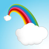 Lucky Rainbow Clouds Royalty Free Stock Photos