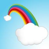 Lucky Rainbow Clouds Royalty Free Stock Photos