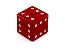 Lucky red dice Royalty Free Stock Photo
