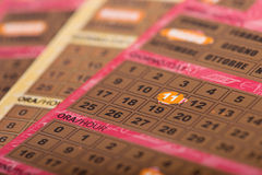 Lucky scratch card with the number 11 exposed Stock Image