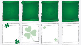 Lucky scrolls Stock Image