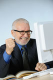 Lucky senior businessman Stock Photos