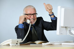 Lucky senior businessman Royalty Free Stock Photography