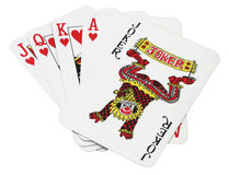 Lucky set of cards Royalty Free Stock Photo