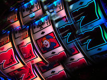 Lucky Seven. Taken of a Slot machine with a multi-filter stock photo