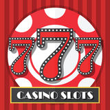Lucky Seven Casino Slot Machine-Achtergrond, Pictogram Royalty-vrije Stock Foto