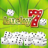 Casino dice set. Lucky seven jackpot concept 777. Casino template royalty free illustration