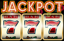 Lucky seven jackpot. Vector illustration background Stock Photo