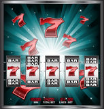 Lucky seven slots stock illustration