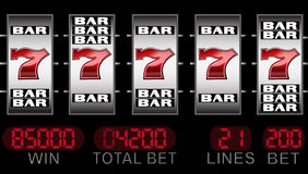 Lucky seven slots Stock Image