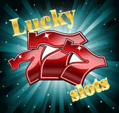 Lucky seven slots vector illustration