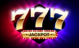 777, lucky sevens jackpot casino banner royalty free illustration