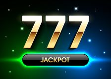 777, lucky sevens jackpot vector illustration