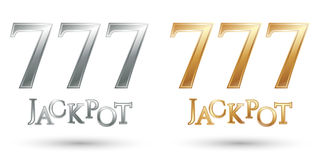 Lucky sevens jackpot royalty free illustration
