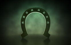Lucky Shamrock Horseshoe Stock Image
