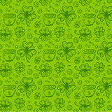 Lucky shamrock pattern Royalty Free Stock Images