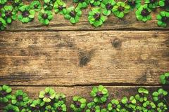 Free Lucky Shamrock. St.Patrick`s Day Background Royalty Free Stock Photography - 96619717