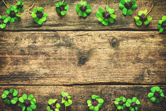 Lucky shamrock. St.Patrick`s day background Royalty Free Stock Images
