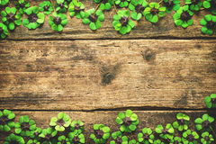 Lucky shamrock. St.Patrick`s day background Royalty Free Stock Photography
