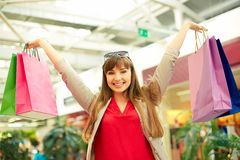 Lucky shopper Royalty Free Stock Photos
