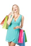 Lucky shopping Royalty Free Stock Photography