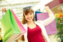 Lucky shopping Stock Photos