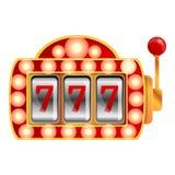 Lucky slot machine icon, cartoon style royalty free illustration