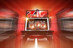 Lucky Slot Machine Winner. Concept 3D Render Illustration. Lucky Casino Slot Machine Stock Photos
