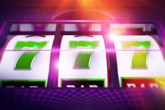 Lucky Slot Spin Illustration Foto de Stock Royalty Free