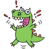 Lucky smiling dinosaur illustration. Cute cartoon happy character Royalty Free Stock Photography