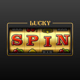 Lucky Spin casino banner Royalty Free Stock Image