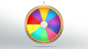 Lucky spin with 10 space. The wheel of fortune or Lucky spin animation was created by Three Dimensional. Video is included the alpha channel and motion loop Vector Illustration
