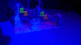 Lucky Star ~ neon Blacklight dell'arcobaleno Fotografia Stock