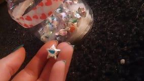 Lucky Star ~ neon +Blacklight dell'arcobaleno Fotografie Stock Libere da Diritti