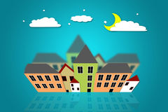 Lucky Star. Old Town Skyline Royalty Free Stock Images
