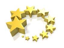 Lucky Star que representa el intensificación Imagen de archivo libre de regalías