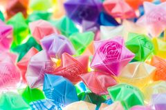 Lucky stars. Colorful lucky stars close up Royalty Free Stock Image