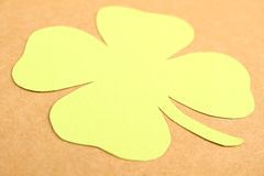 Lucky - Stock Image. Background for St. Patrick's Day. Silhouettes of green clover stock image