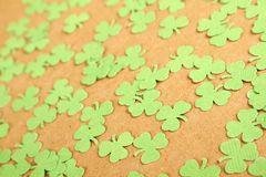 Lucky - Stock Image. Background for St. Patrick`s Day. Silhouettes of green clover stock images